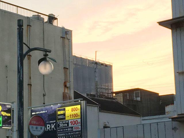 和歌山市内,街灯がみかんの形をしている,