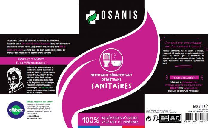 OSANIS Nettoyant Désinfectant Sanitaires