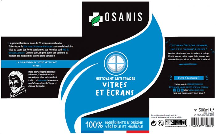 OSANIS Nettoyant anti traces ecrans et vitres
