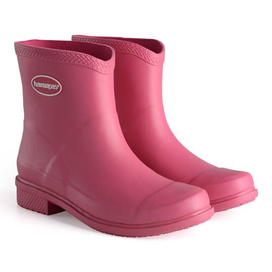 havaianas - rain boots - cano curto - adulto - rosa - ModaNews