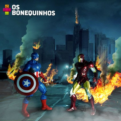 Reproduzindo cena dos quadrinhos - Guerra Civil Marvel