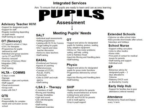 Pupil Support at osborne website version