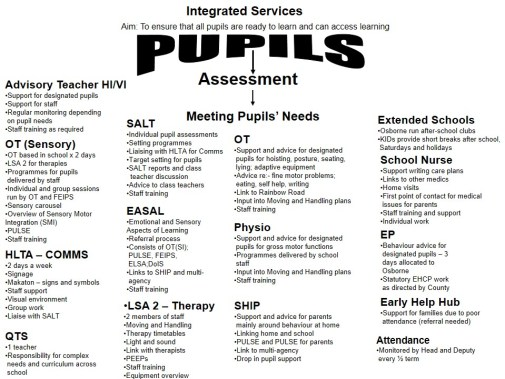 Pupil Support at osborne website version