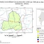 Mapa da TI Krikati e da localizacao das aldeias Krikati