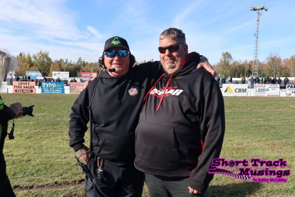OSCAAR President Dave Gainforth with Flagman Bob Finnegan
