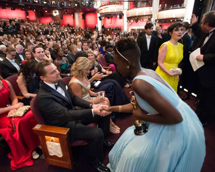 Image result for lupita nyong'o and leonardo dicaprio
