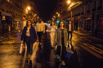 Camille Étienne, Tim, Adélaïde Charlier, Mina Cuche, Alban Viogne & Joseph Cange in a film by Pensée Sauvage, directed by Solal Moisan & Camille Étienne, DOP Martin Laugery, Costume Design by Entremains.