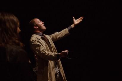 No Limit, Répétitions au Grand Palais, Paris. Mise en scène Robin Goupil assisté par Arthur Cordier. Augustin Passard & Maika Louakairim.