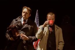 No Limit, Répétitions au Grand Palais, Paris. Mise en scène Robin Goupil assisté par Arthur Cordier. Stanislas Perrin & Augustin Passard.
