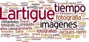 CloudText con palabras clave sobre Jacques-Henri Lartigue.