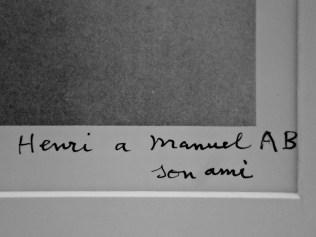 Henri, a mi amigo Manuel AB