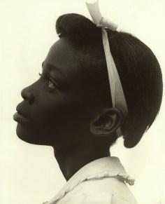 """Consuelo Kanaga, """"Young girl in profile"""", 1948, Gelatin silver print"""