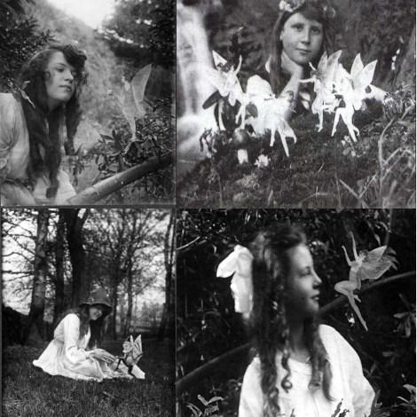 Elsie Wright y Frances Griffiths. Las Hadas de Cottingley (Cottingley Fairies), 1917.