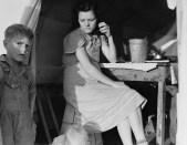 Calipatria, Imperial Valley, in FSA emergency migratory labor camp, 1939 Dorothea Lange