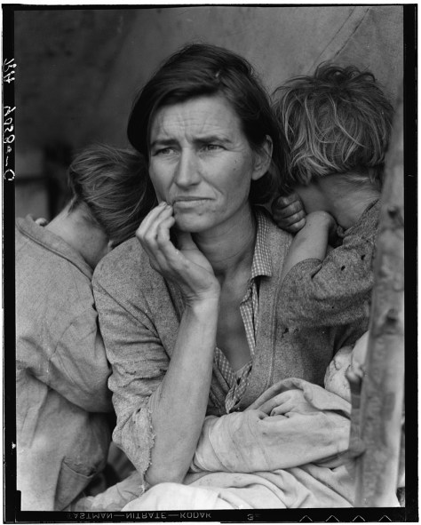 Dorothea Lange Destitute pea pickers in California. Mother of seven children. Age thirty-two. Nipomo, California