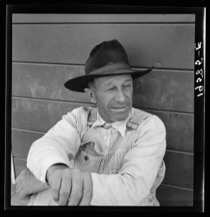 """Tulare County, at Farm Security Administration (FSA) camp at Farmersville, California"". Dorothea Lange"