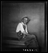 """Tulare County, at Farm Security Administration (FSA) camp at Farmersville, California."" Dorothea Lange"