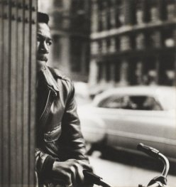 Louis Stettner Untitled (Young Man with Bicycle), c. 1940