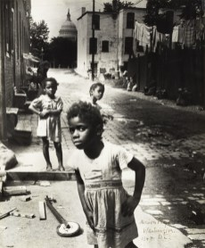 Marion Palfi, In the Shadow of the Capitol, 1948, gelatin silver print. The Jewish Museum