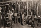 The Factory- 9 pm in an Indiana Glass Works Lewis Hine