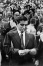 1953 Robert Capa, en la pista de carreras de Longchamp, Paris. Henri Cartier Bresson