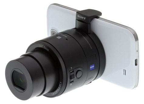 Sony QX100 montada en un teléfono Samsung. Otro intento fallido.