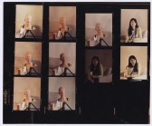 Contact sheet from shoot of Self Portrait as My Sister