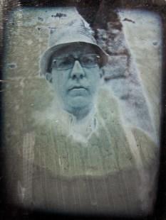 """""""Autorretrato"""". Daguerrotipo con el método Becquerel. Óscar Colorado (18-MAY-2013)"""