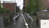 """Robin Hewlett y Ben Kinsley. De la performance """"Street With a View"""""""