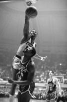 Wilt Chamberlain Dunking Over Bill Russell