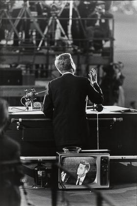 John F Kennedy, Democratic National Convention, Los Angeles from the portfolio Big Shots1960_Garry_Winogrand_PR_Politics_Bigshots_John F. Kennedy, Democratic National Convention, Los Angeles from the portfolio Big Shots1960