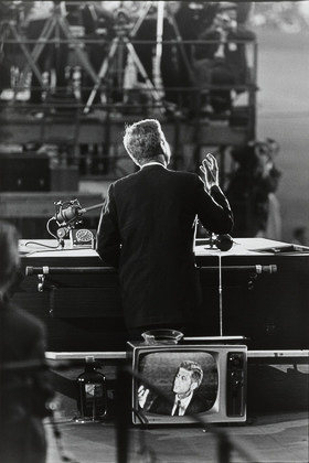 John F Kennedy, Democratic National Convention, Los Angeles from the portfolio Big Shots1960_Garry_Winogrand_PR_Politics_Bigshots_John F. Kennedy, Democratic National Convention, Los Angeles from the portfolio Big Shots1960