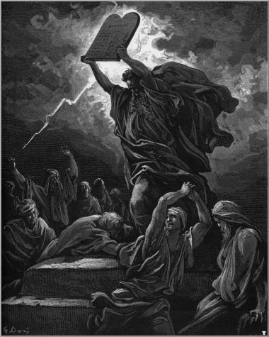Gustave Doré. Moisés con las Tablas de la Ley.