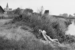 Ile-de-France. Yvelines. El río Sena cerca de Mantes-la-Jolie. 1955.