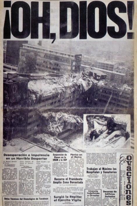 2ª de Ovaciones, portada, 19 de septiembre de 1985