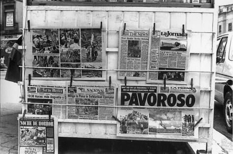 Pavoroso, el resumen de los diarios de la ciudad | Eje Central, 21 de septiembre © Ulises Castellanos