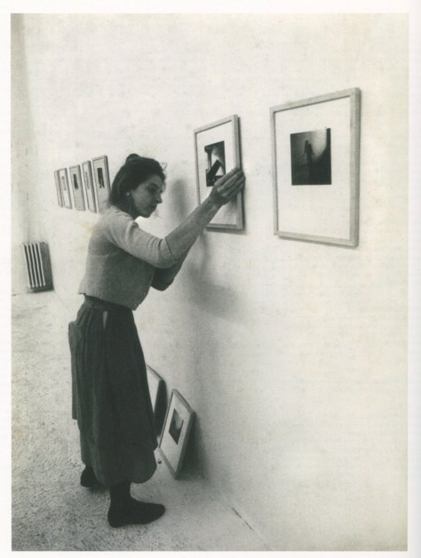 Francesca Woodman installing the exhibition Cinque Giovani Artisti at Galleria Ugo Ferranti Rme 1978