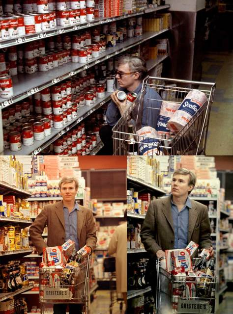 Andy-Warhol-shopping-in-Gristede's-supermarket-in-New-York-1965