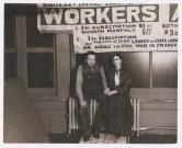 Foto por Lucienne Bloch. Diego Rivera y Frida Kahlo en un descanso mientras Diego ppintaba un mural en la New Workers School. Nueva York (1933)