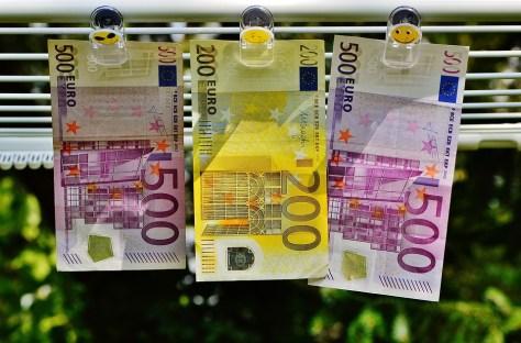 Currency Money Euro Bills Seem Finance Dollar Bill
