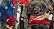 XJL60973 To My Wife, 1933-44 (oil on canvas) by Chagall, Marc (1887-1985); 131x194 cm; Musee National d'Art Moderne, Centre Pompidou, Paris, France; French, in copyright PLEASE NOTE: This image is protected by the artist's copyright which needs to be cleared by you. If you require assistance in clearing permission we will be pleased to help you.