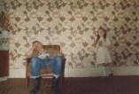 Skinhead con niña. Londres, 1978