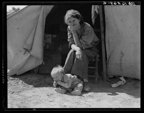 dorothea_lange_Eighteen year-old mother from Oklahoma, now a California migrant_march_1937