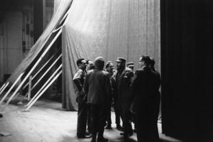 Havana. Theatro Chaplin. Before a speech of Fidel CASTRO (center).