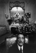 Dali in his suite no.101 at the Hotel Meurice on the Rue de Rivoli in Paris.