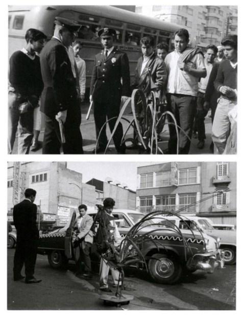 Nacho López. El gallo expósito del escultor Pedro Cervantes, 1962.