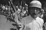 ALGERIA. Algiers. 2 July 1962. Independence. Children of Bad-el-Oued area celebrating independence with fake weapons.
