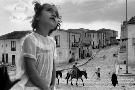 ITALY. Sicily. Corleone main street. 1959.