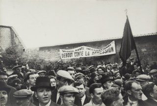 Demonstration at the Communards' Wall, Père Lachaise Cemetery, Paris 1937-39 Henri Cartier-Bresson