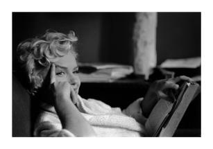 USA. New York. US actress Marilyn MONROE. 1956.Elliott Erwitt